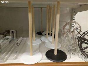 セリア・木製キッチンペーパーホルダー